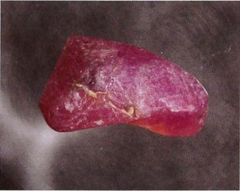 12-ct uncut pink sapphire from Palmer Canyon.