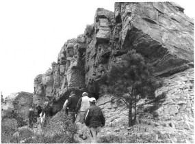Hiking along the Horsetooth Member of the Lower Cretaceous Dakota Group.