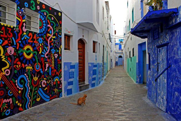 imagen de las bellas calles de asilah