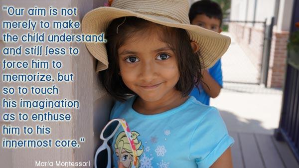 our aim is imagination at Parker 's Renaissance Montessori School