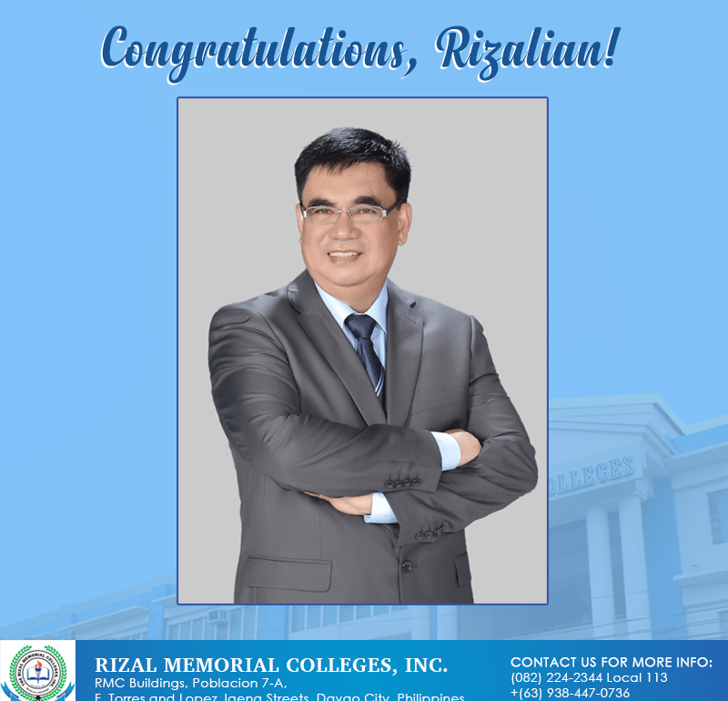 RMC OSSA & Alumni Office Director is the Newly Elected Vice President for Private Schools of the Philippine Association of Practitioners of Student Affairs and Services, Inc. Region XI Chapter (PAPSAS XI)
