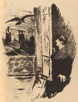 Manet Le Corbeau Illustration