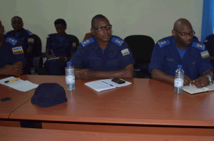 Supt Jean Marie Vianney Ndushabandi participated in this meeting (the first from right).