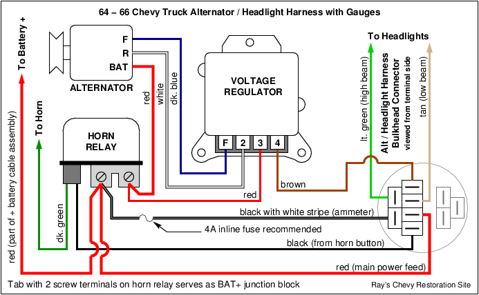 voltage regulator wiring on 1974 chevy 2500  wiring diagram