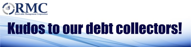 Kudos to our debt collectors!