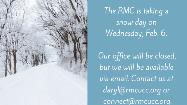 The RMC is taking snow day! Our office will be closed, but we will be available via email.
