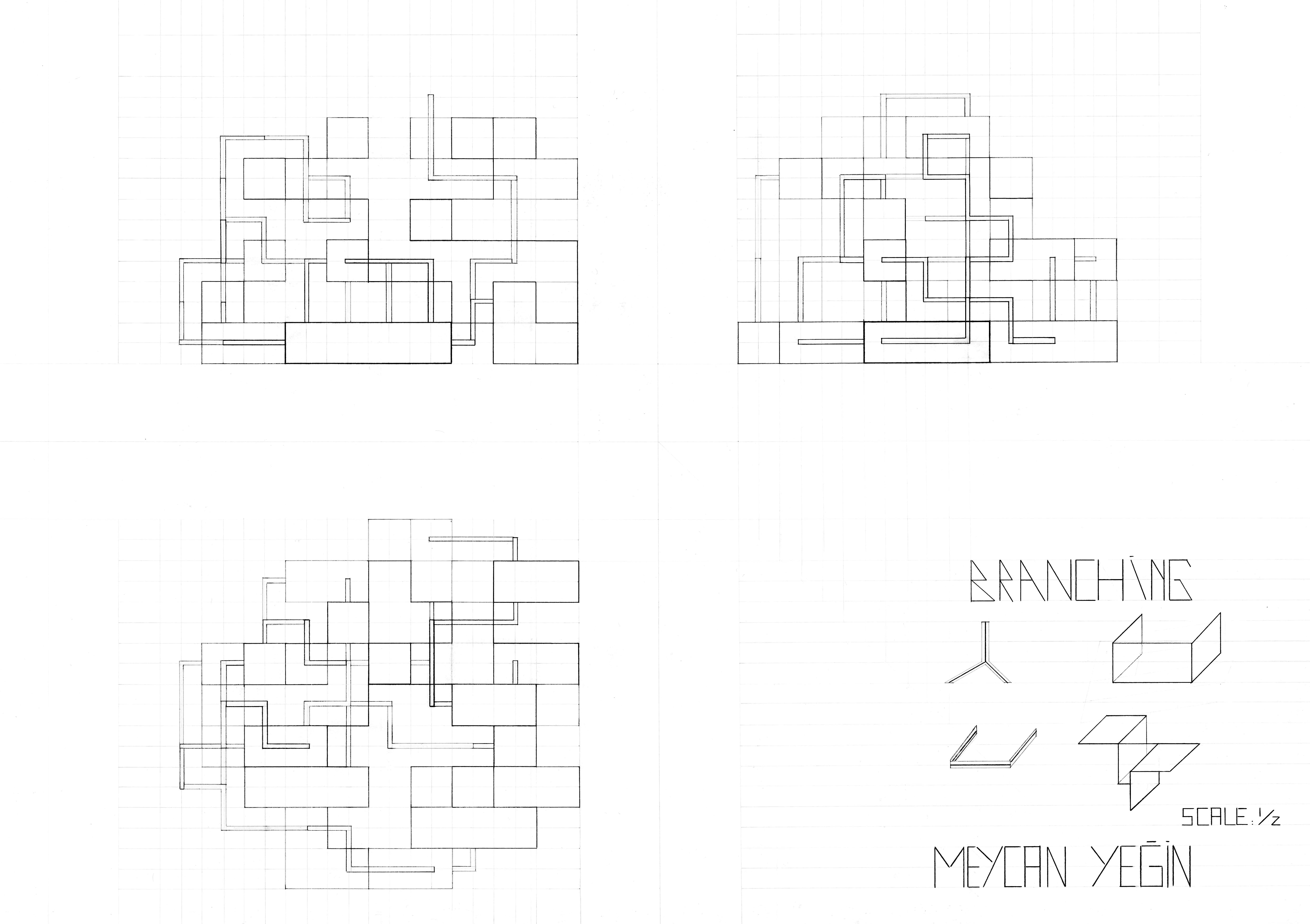 Orthographic Drawing For Variation 2 Meycan Yegin