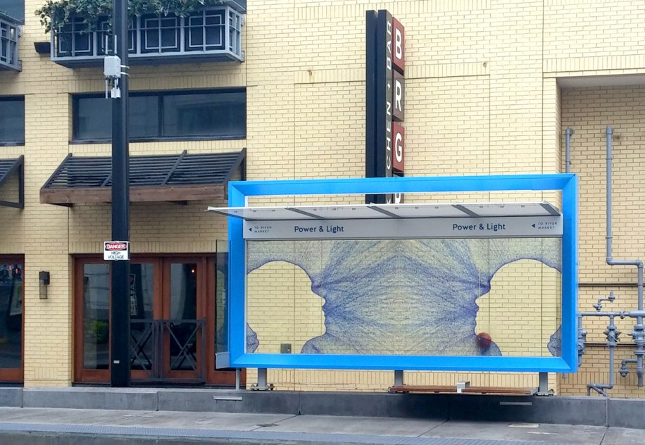 Art in the Loop: Connect │ Power & Light KC Streetcar Stop │ 70sf │ 2016