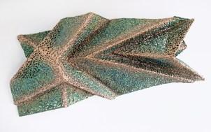 "lace fabric, resin, acrylic │ 25 x 53 x 10"" │ 2017"