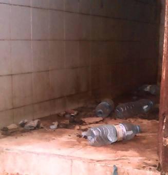 Les «toilettes» du centre de rétention du commissariat de Bagdad
