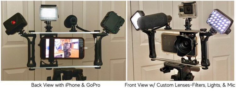 iPhone & GoPro Video Rig. R. Michael Brown Freelance Writer & Multimedia Producer
