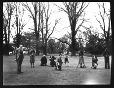 RMIT University Archives Collection Photography Class in Fitzroy Gardens, Melbourne Technical College 1947 PH3.5.034:01