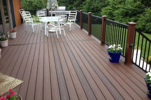 Trex Composite Decking Color is Spiced Rum - Project in Monroe, NJ