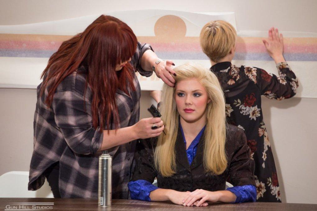 Music video shoot, hair & makeup