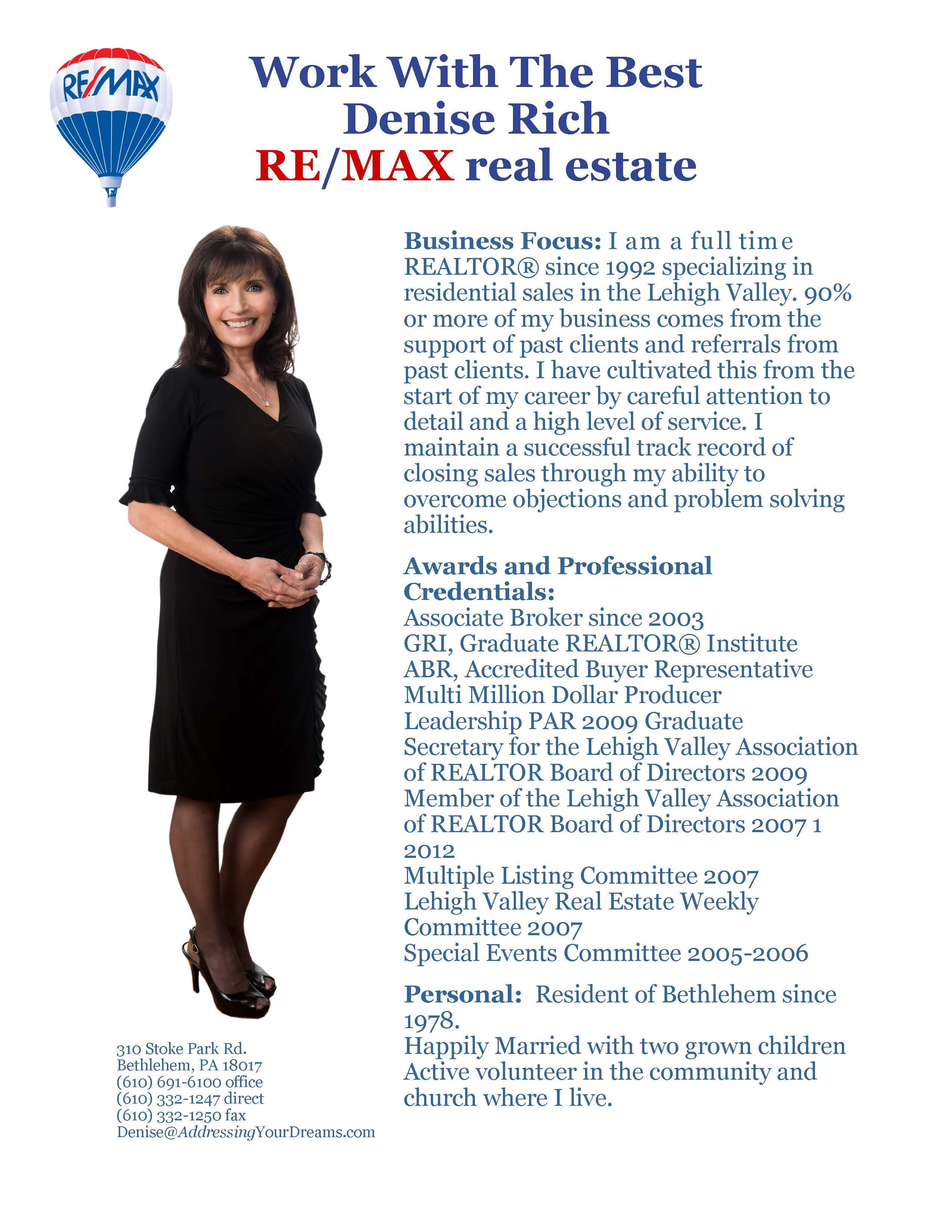 Real estate agent bio template for Templating agent