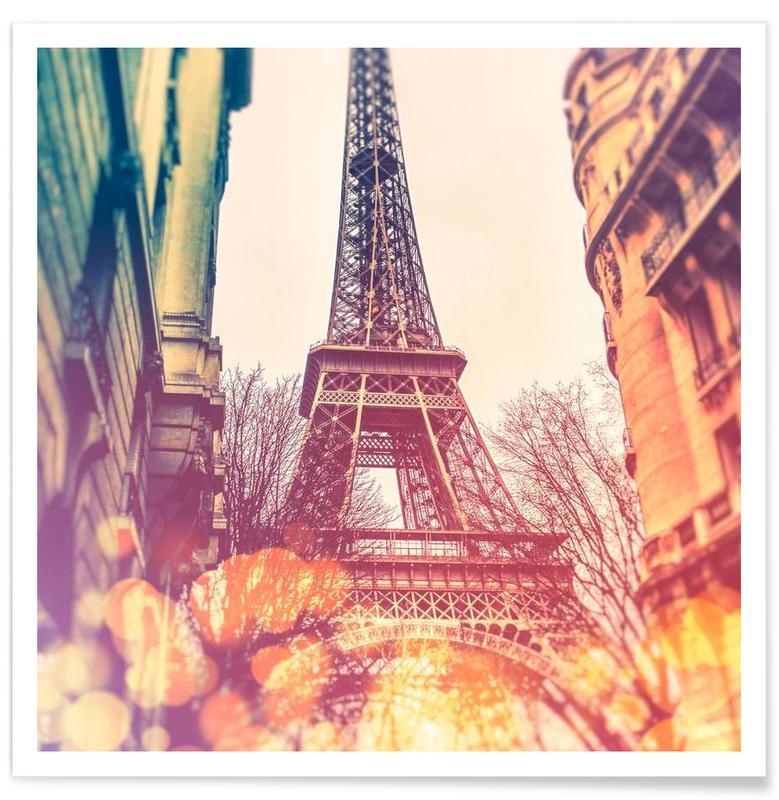 Vintage Eiffel Tower As Premium Poster By Jaysan Studio