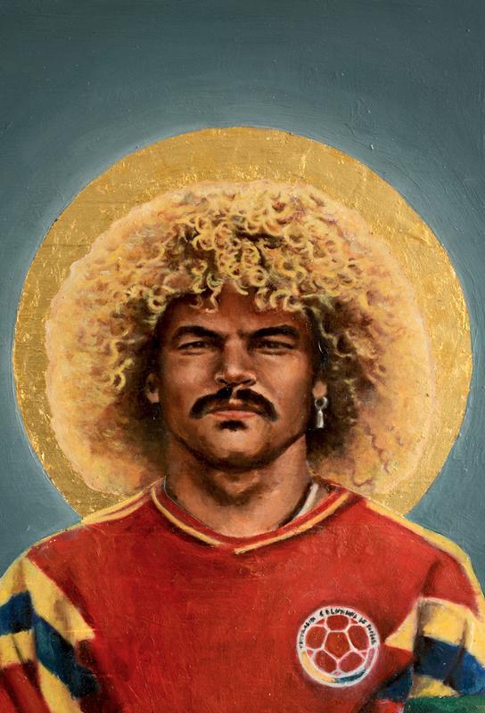 Football Icon Carlos Valderrama As Acrylic Glass Print JUNIQE