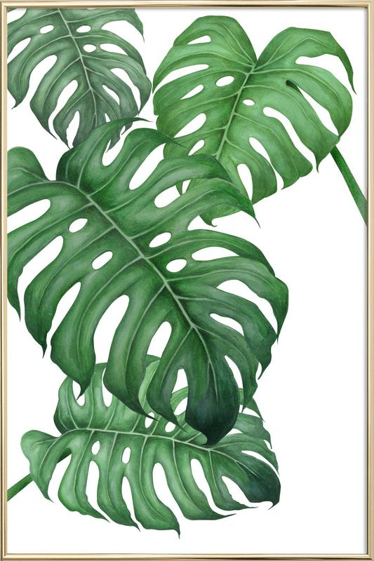 Tropical No2 As Poster In Aluminium Frame By Typealive