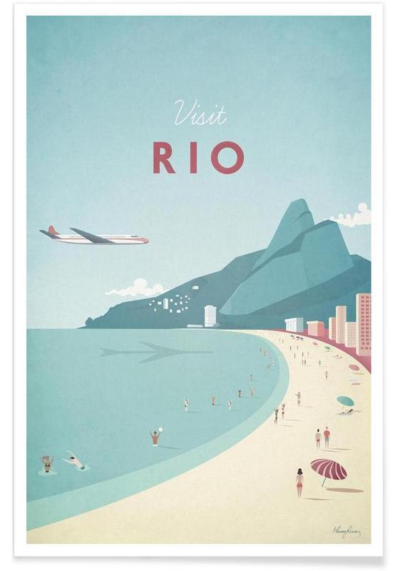 Rio En Affiche Premium Par Henry Rivers JUNIQE