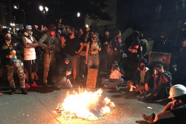 Antifa and BLM burn Bibles