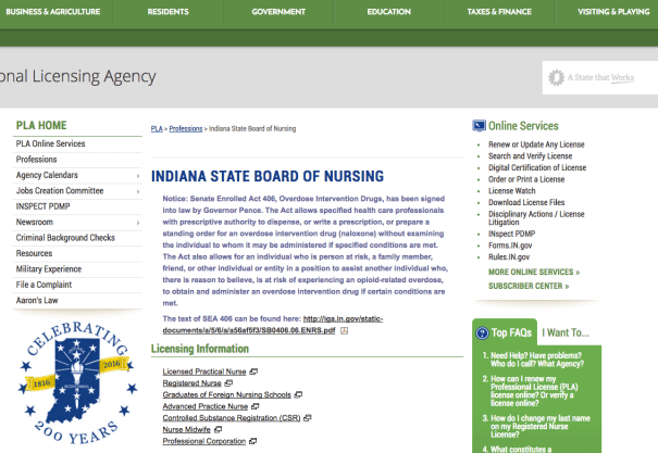 """RN License Verification Indiana"""