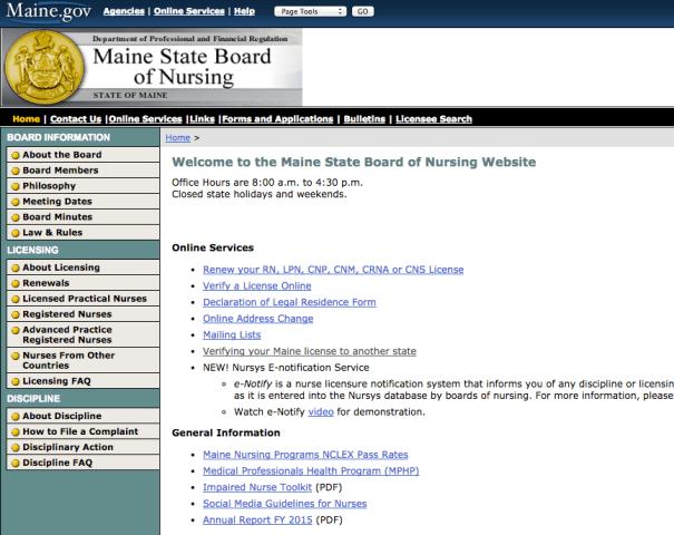 """RN License Verification Maine"""
