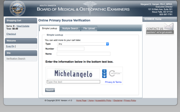 """RN License Verification SD"""