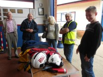 Hunstanton RNLI showing the MK members some of the kit