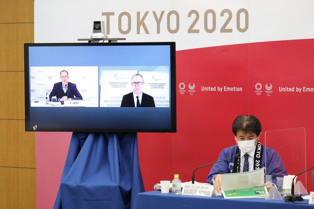 Sesión del comité organizador de los Juegos Olímpicos de Tokio (FOTO: Du Xiaoyi / POOL / AFP)