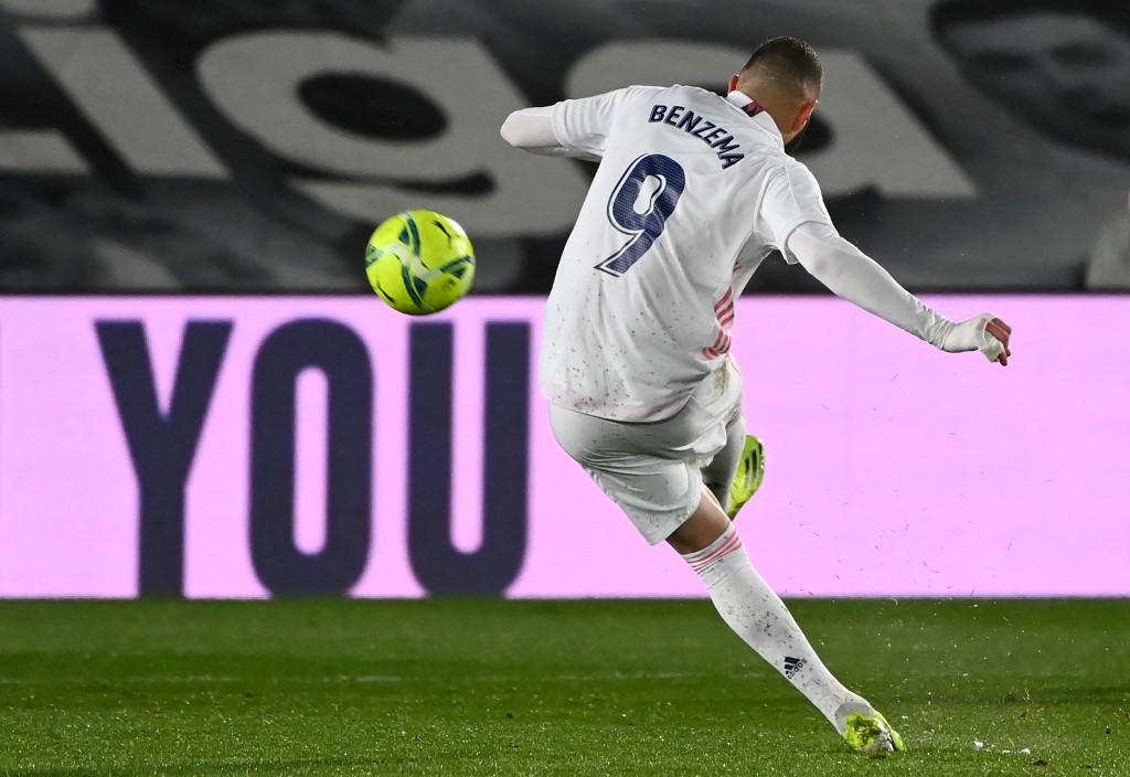 El delantero francés del Real Madrid, Karim Benzema. (Foto: GABRIEL BOUYS / AFP)