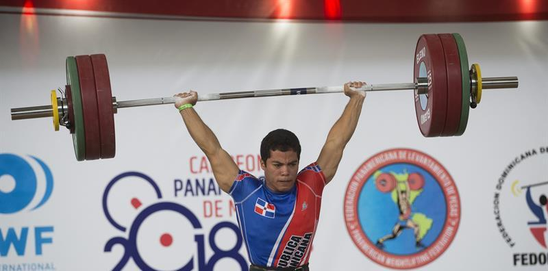 El pesista dominicano Luis García es una promeda de medalla en el evento. (Foto: Fuente Externa)