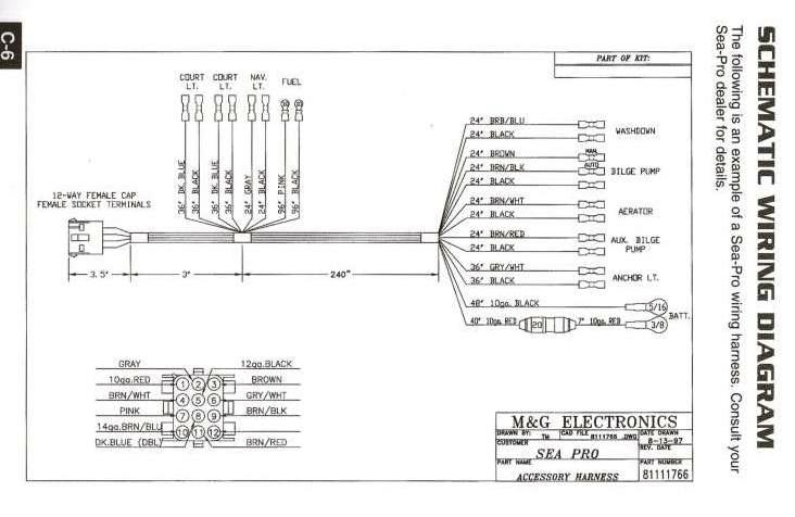 Sea Pro Wiring Schematics - Car Fuse Box Wiring Diagram •