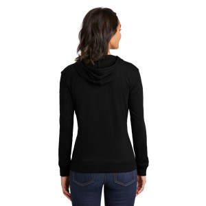 District® Women's Fitted Jersey Full-Zip Hoodie – DT2100