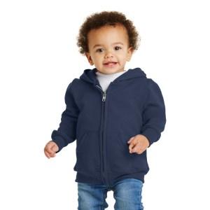 Port & Company® Toddler Core Fleece Full-Zip Hooded Sweatshirt – CAR78TZH