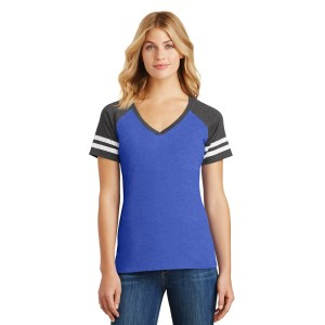 District ® Women's Game V-Neck Tee – DM476