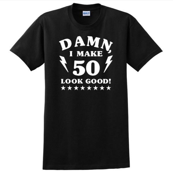 Damn 50 white on black