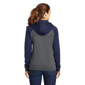 Sport-Tek® Ladies Sport-Wick® Varsity Fleece Full-Zip Hooded Jacket – LST236