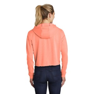 Sport-Tek ® Ladies PosiCharge ® Tri-Blend Wicking Fleece Crop Hooded Pullover – LST298