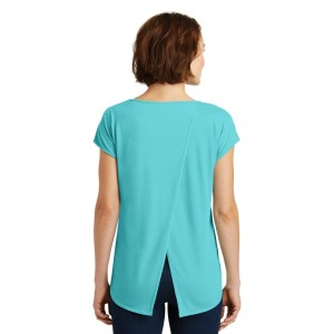 District ® Women's Drapey Cross-Back Tee – DM416