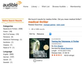 Tamng the Telomeres now in audio version on audible.com