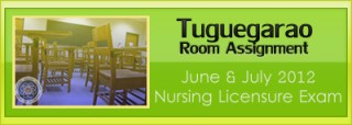 Tuguegarao room assignment June and July 2012 NLE