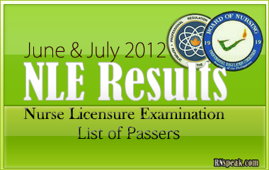 June & July 2012 NLE Results