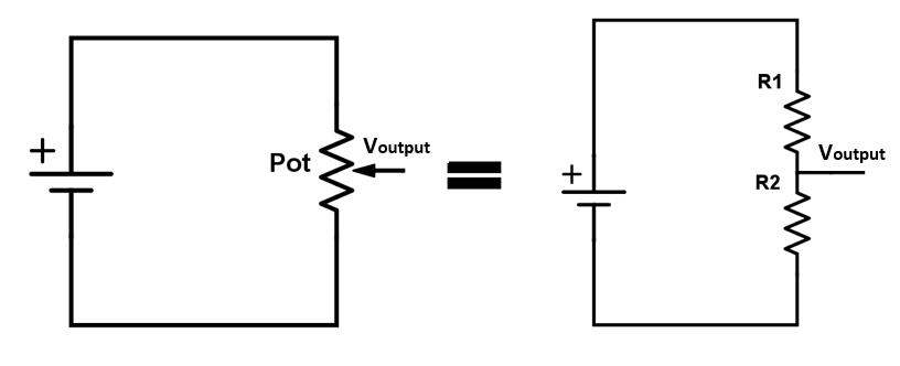 electronics basics how a potentiometer works random nerd tutorials schematic diagram potentiometer circuit diagram potentiometer #24
