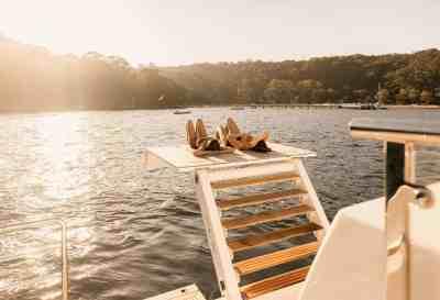 Majesty 100 Swim platform