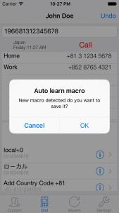 MacroDial Auto Learn