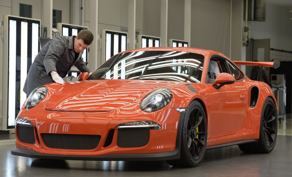 Porsche 911 GT3 RS at Zuffenhausen.  Photo: Thomas Kienzle/AFP/Getty Images