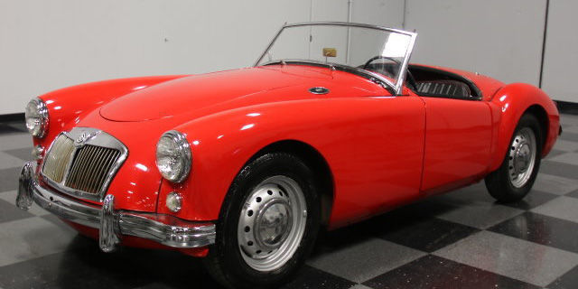 An MGA with a restored interior and dash and a new motor, this car is for sale for $21,995.