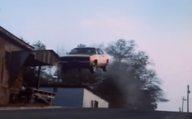 "For its famous jump – the one in the opening credits – the 1969 Dodge Charger ""General Lee"" had several hundred pounds of cement in its trunk. Earlier jumps had gone badly because the Charger was too front-heavy."