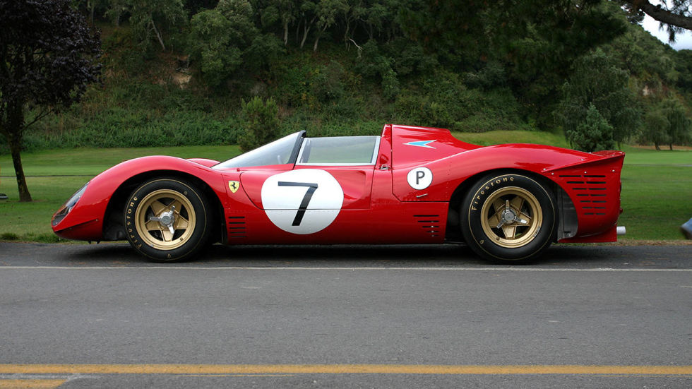 Yin to the Lola T70's yang—as rarified as the former was not. Looks the business, sounds like unbridled hell. Gold wheels need no explanation.
