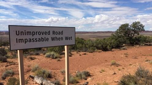 Die Einfahrt in die Salt Valley Road